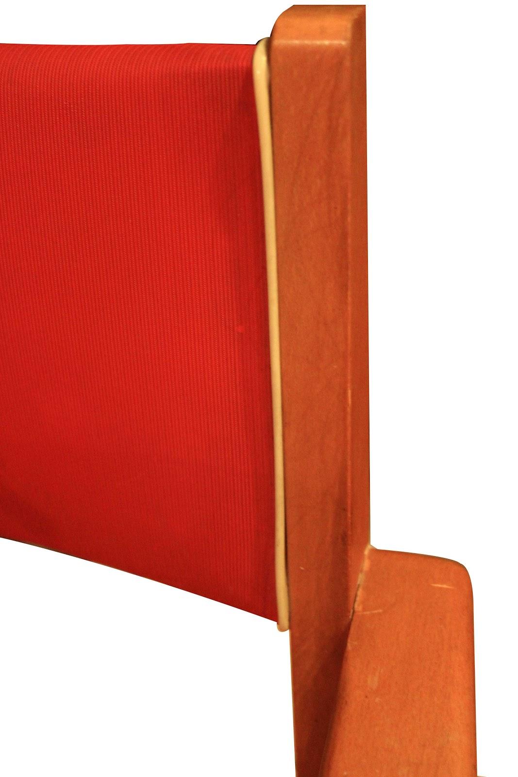 chicbaazar objets vintage 50 60 70 petit fauteuil bridge ska rouge 1950. Black Bedroom Furniture Sets. Home Design Ideas