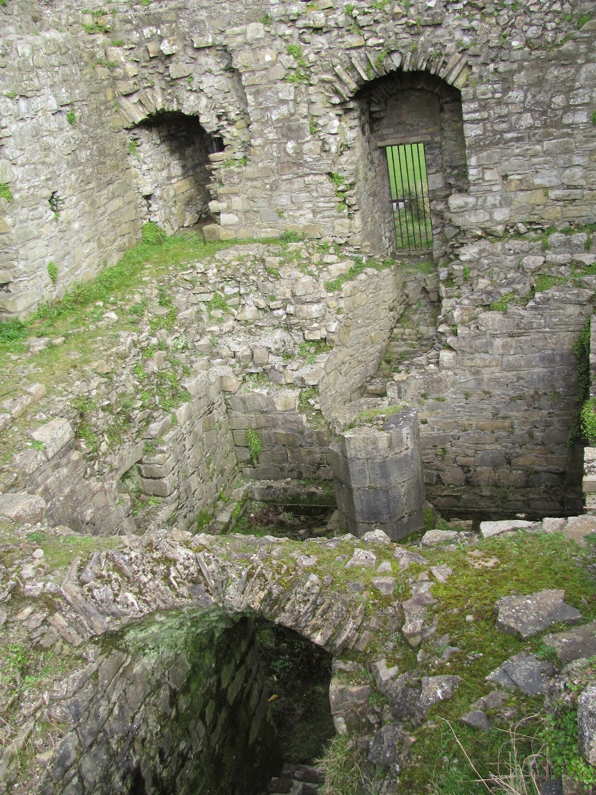 Below the Great Hall of Trim Castle in Trim, Ireland