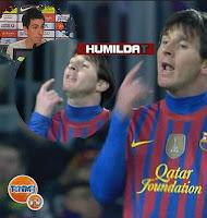 El feo gesto de Messi al chaval Cuenca ¡eh!! ¡levanta la cabeza!