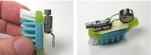robot sikat gigi dengan battery kecil
