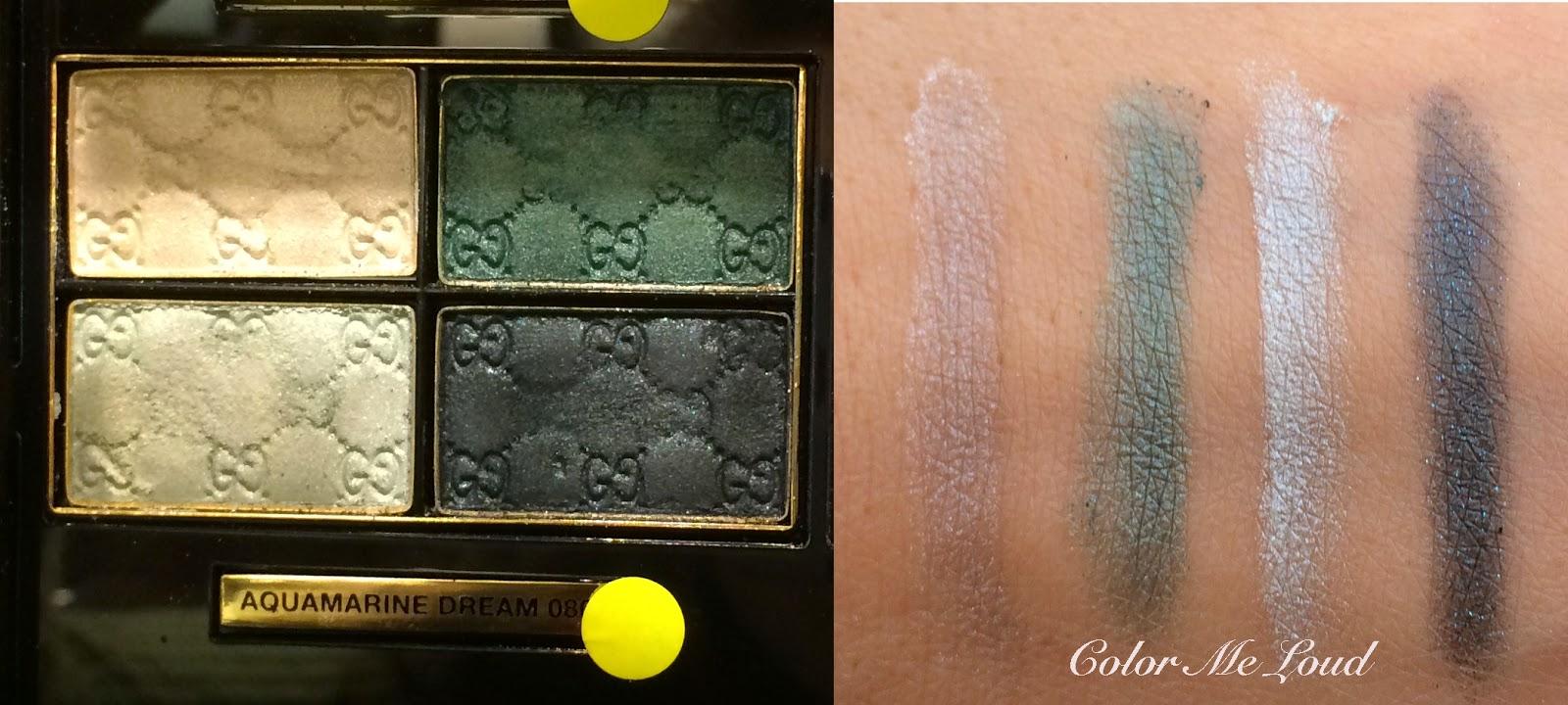 Swatch: Gucci Magnetic Color Eye Shadow Quad in Aquamarine Dream