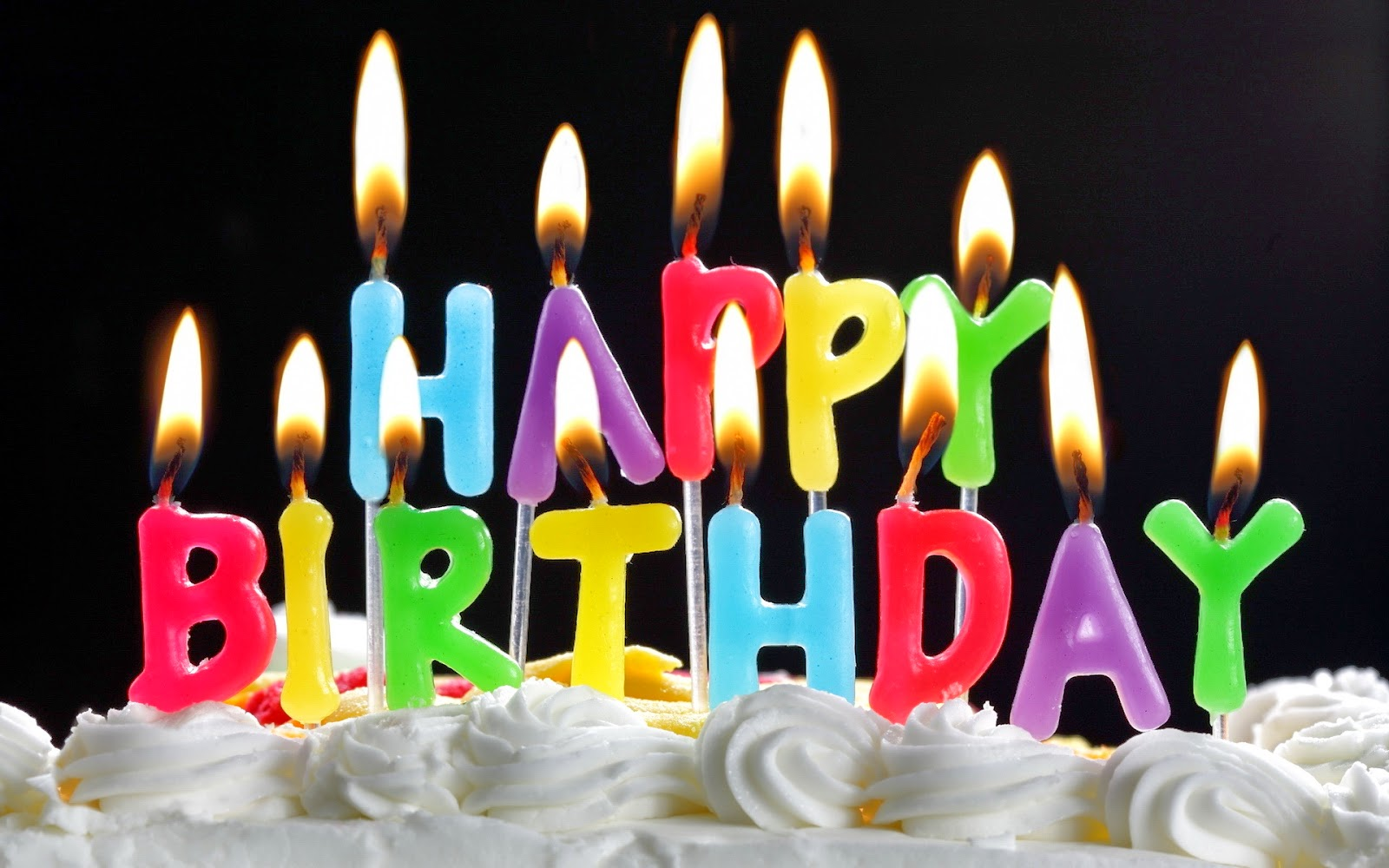 happy birthday wishes with lettered candles