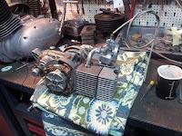 Jawa Babetta składanie silnika