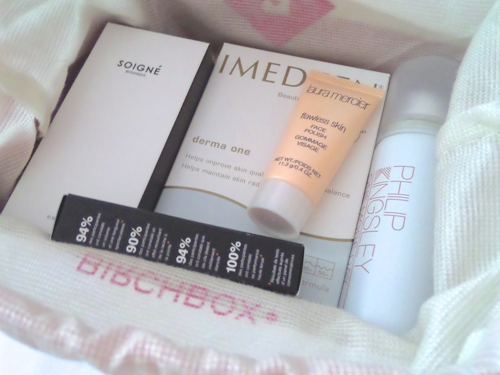 Birchbox May 2014 in collaboration with Harper's Bazaar Contents