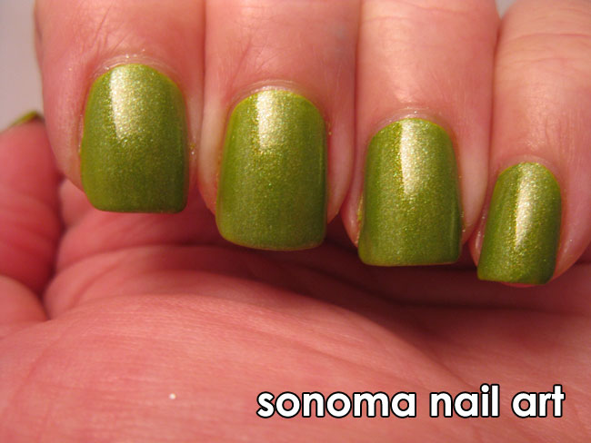 Nails by kayla shevonne guest post michelles bamboo nail art next i layered two coats of butter london dosh a gorgeous green glass fleck polish with bits of gold and yellow in it i picked up this polish on a prinsesfo Gallery