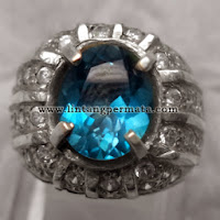 Batu Permata Natural London Blue Topaz