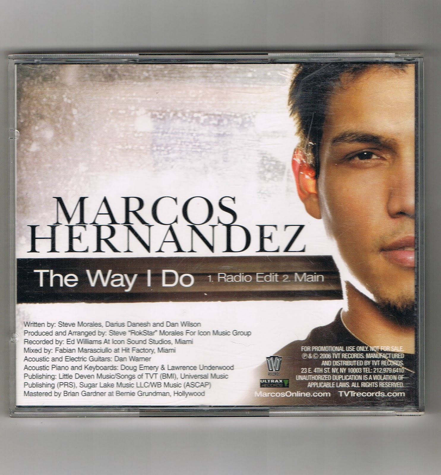 KC Music Shop: MARCOS HERNANDEZ The Way I Do single promo 2006 cd ...