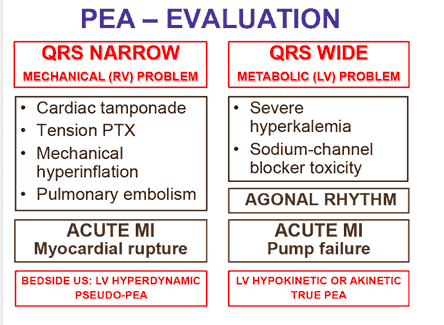 Cardiac Arrest: PEA or Asystole