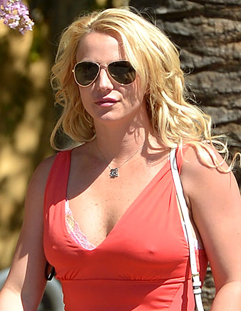 Singer @ Britney Spears - out in Calabasas