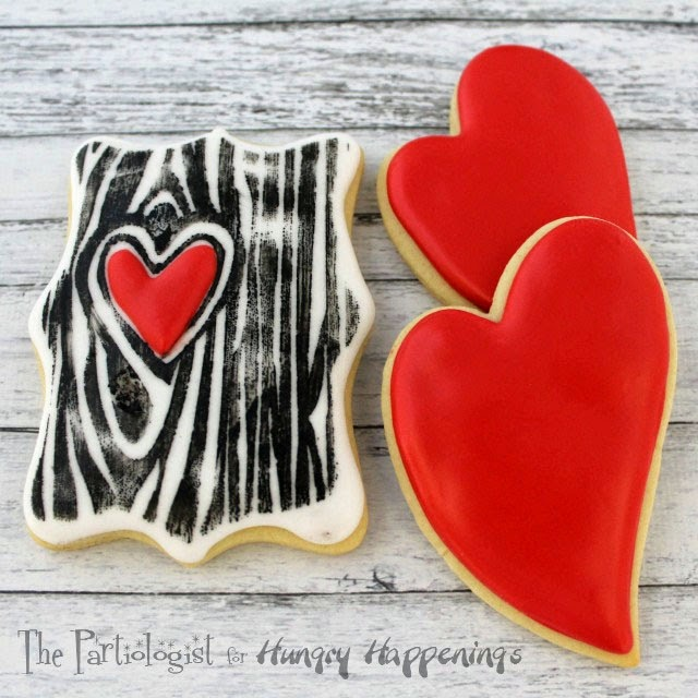 Hand stamped Tree of Love Valentine's Day Cookies from the Partiologist for HungryHappenings.com