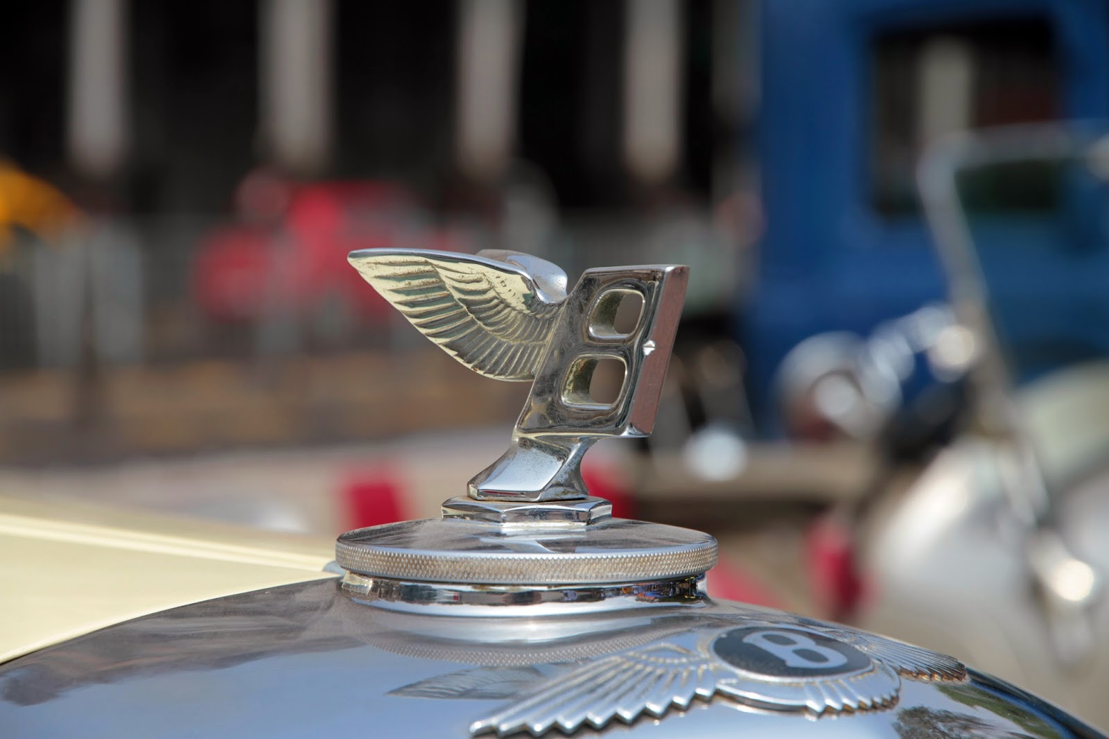 Bently hood ornament parked at Kala Ghoda, Mumbai