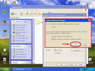 Learn how to unhide files and folders in windowsXP step12