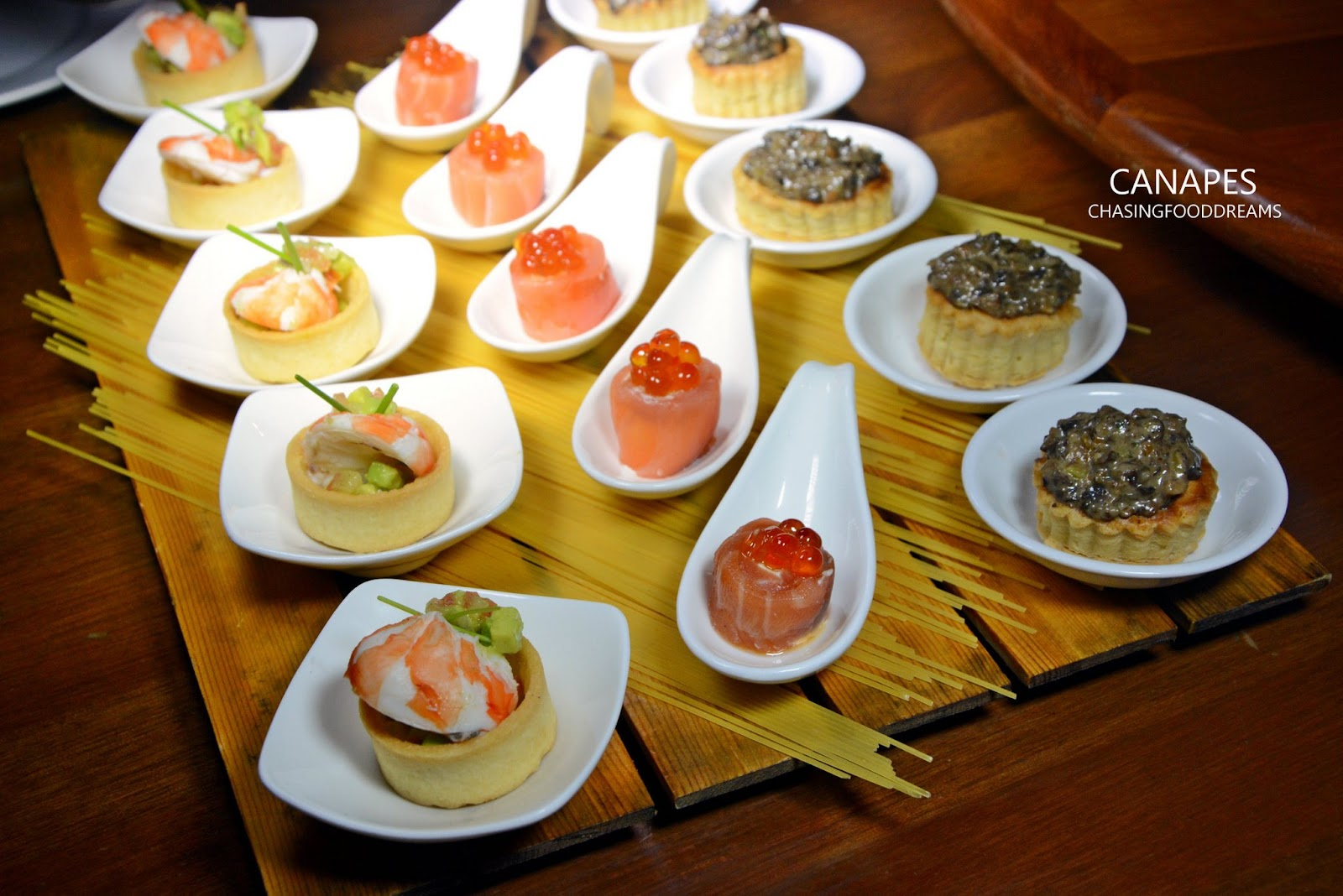 Chasing food dreams a journey through time viii gala for Mini prawn cocktail canape