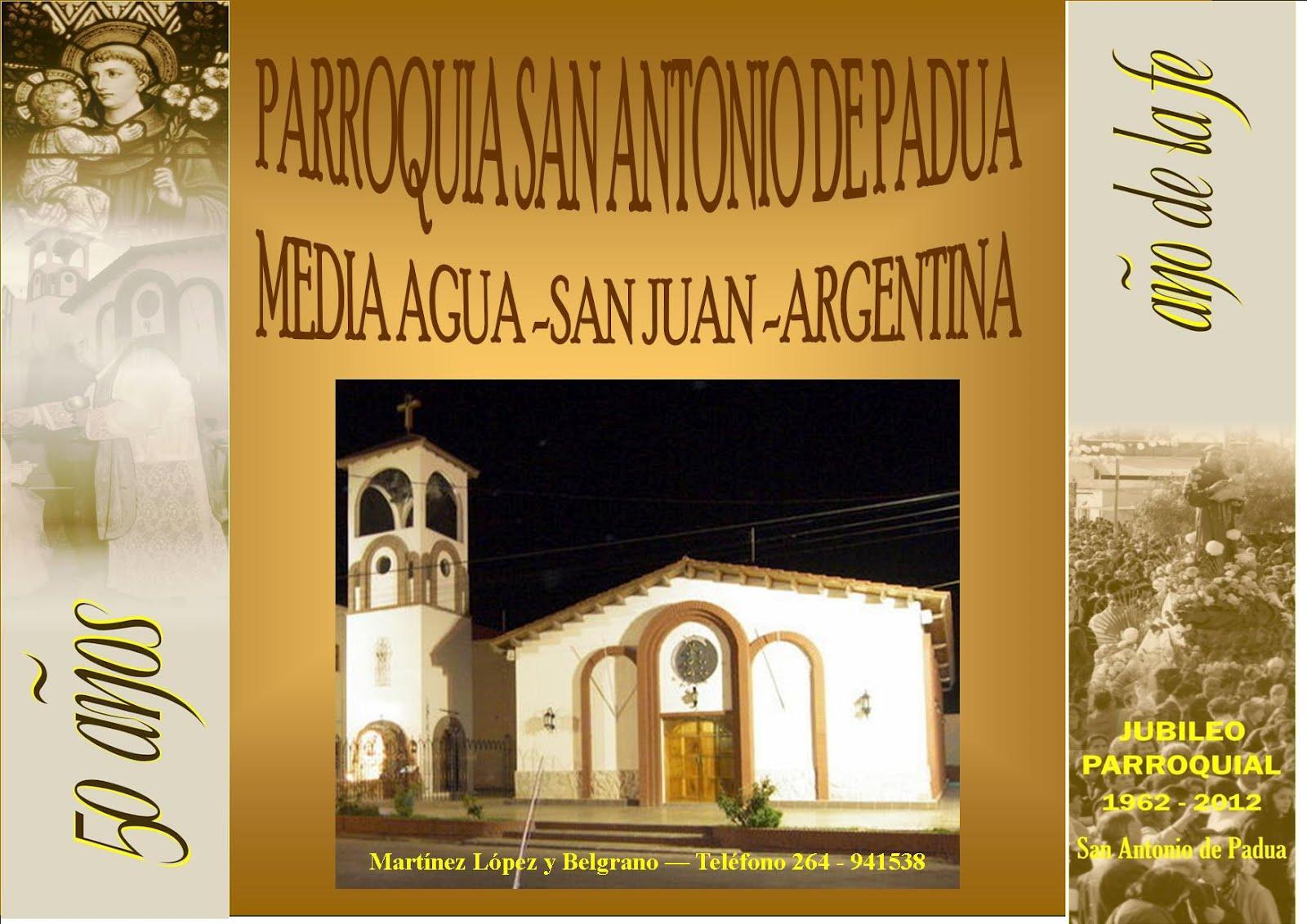 PARROQUIA SAN ANTONIO DE PADUA - MEDIA AGUA - SAN JUAN - ARGENTINA