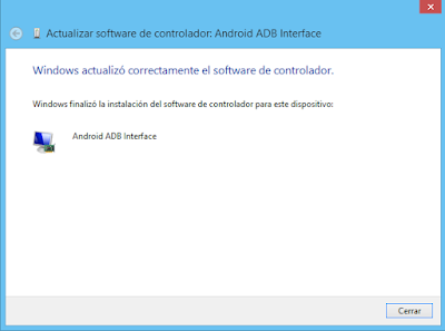 Instalación de Android ADB Interface