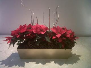 Centros de Mesa de Navidad con Piñas, parte 1