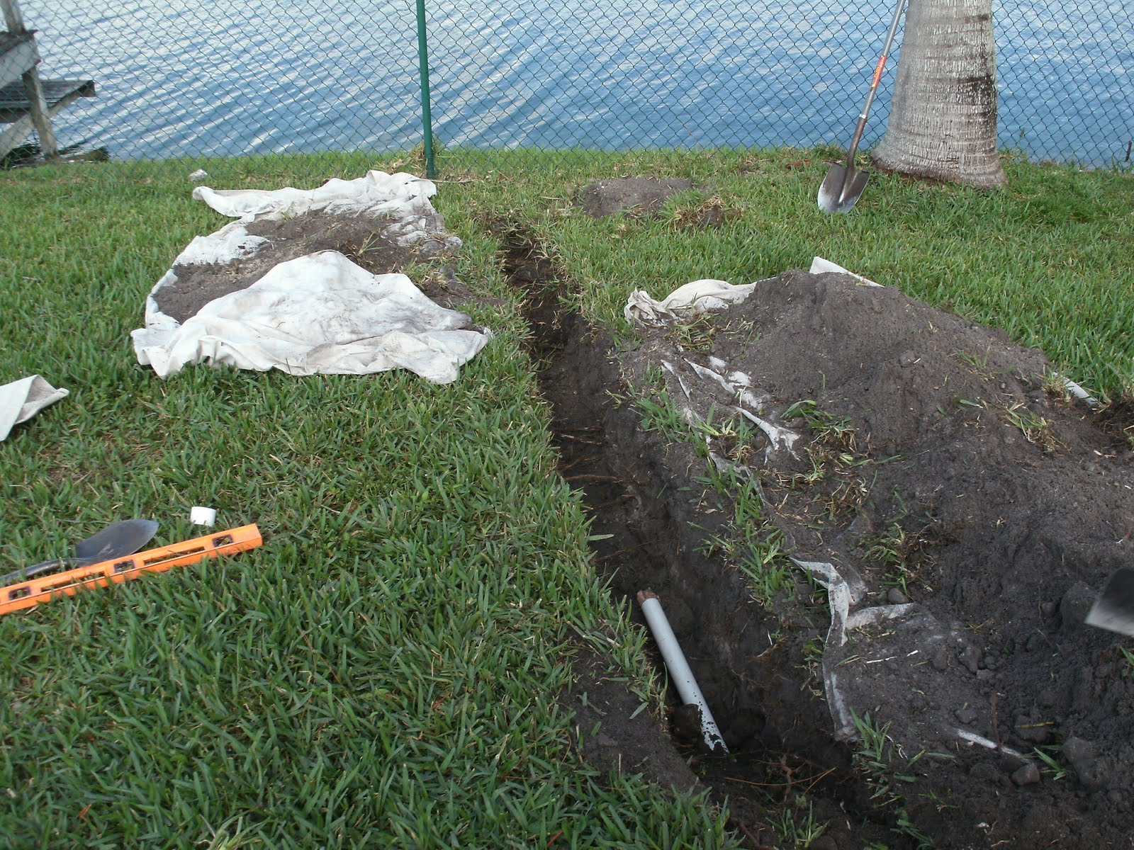 Patio drain install handyman extraordinaire for Patio drainage