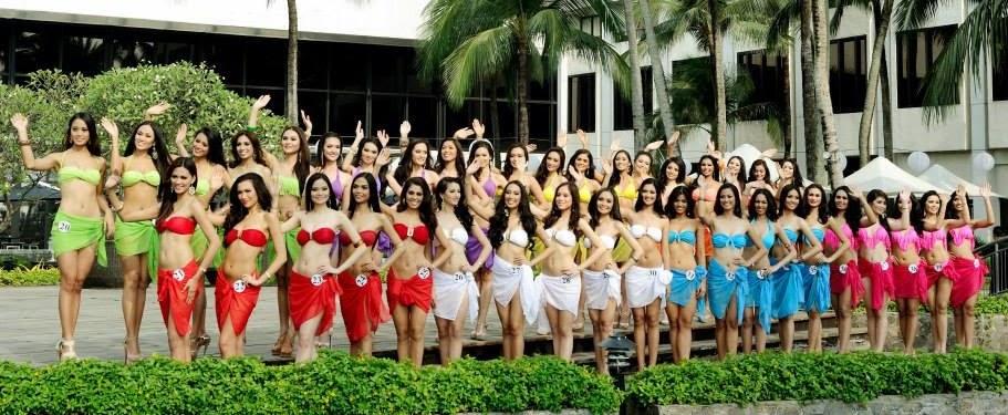 Binibining Pilipinas 2014 Candidates in swimsuit
