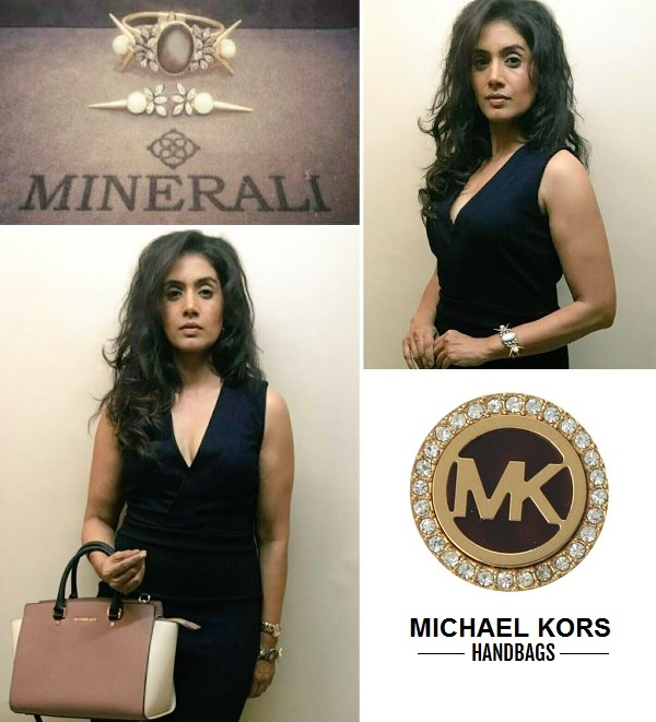 Here's a closer look at the outfit Sonali Kulkarni wore during Sephora Mumbai store launch.
