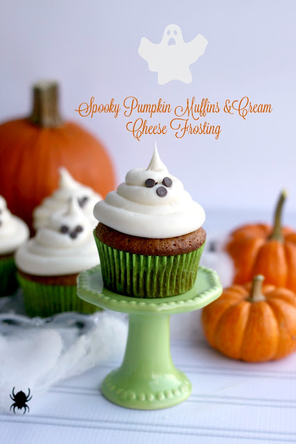 ... for Cookies and more: Spooky Pumpkin Muffins & Cream Cheese Frosting