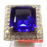 Batu Permata Natural Blue Obsidian