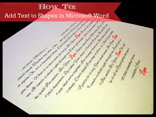 how to add text to shapes in microsoft word