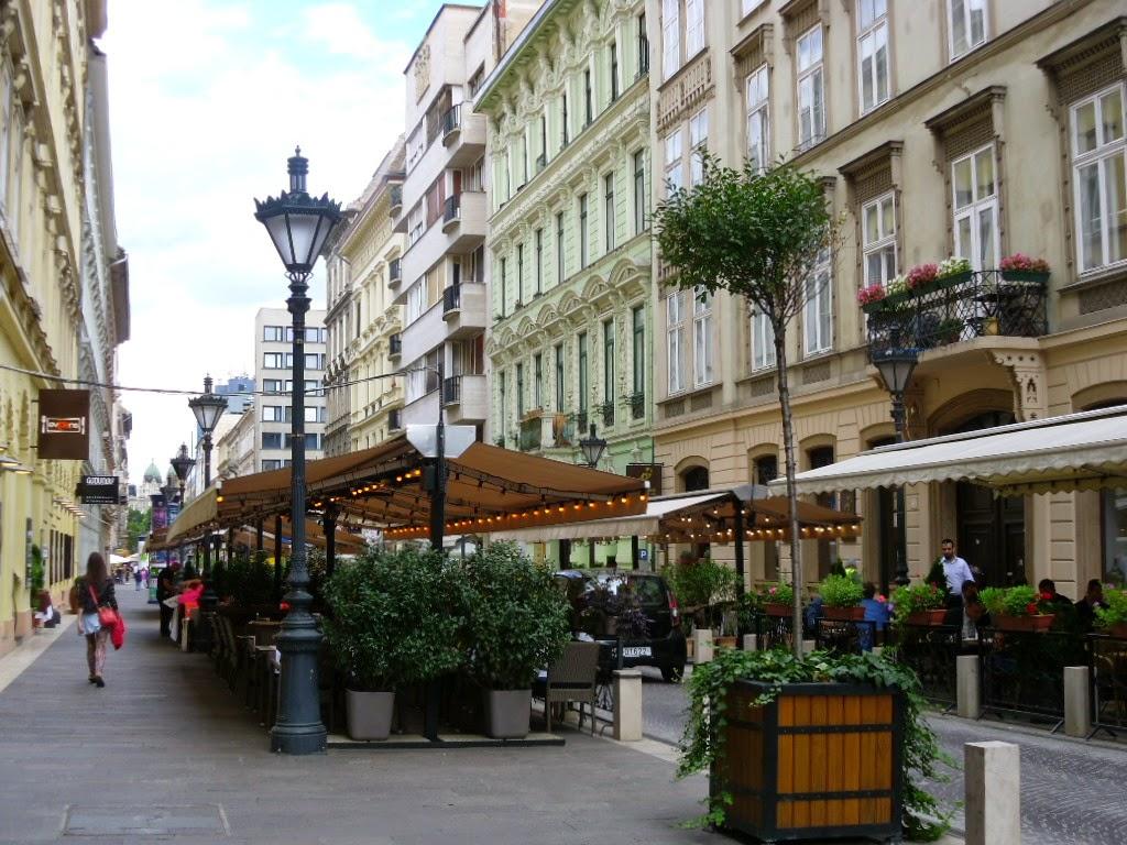 Calçadão em Budapeste