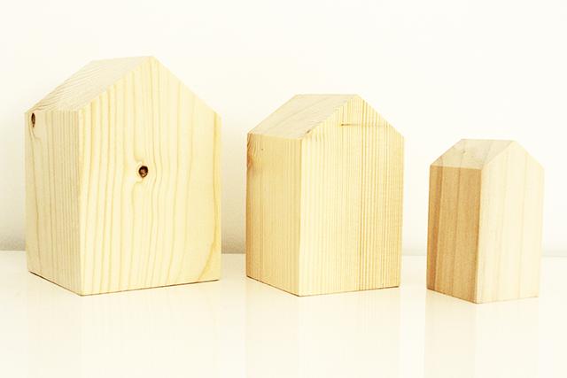 decoración de interiores nórdica pack 3 casitas de madera hermanas bolena shop
