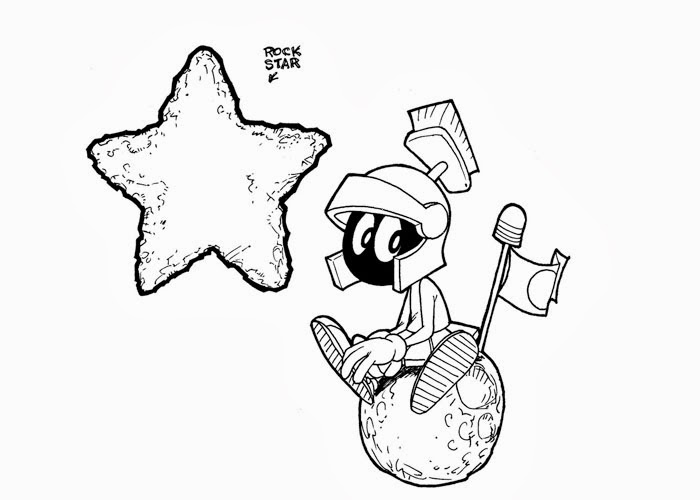 marvin the martian coloring - Marvin The Martian Coloring Pages