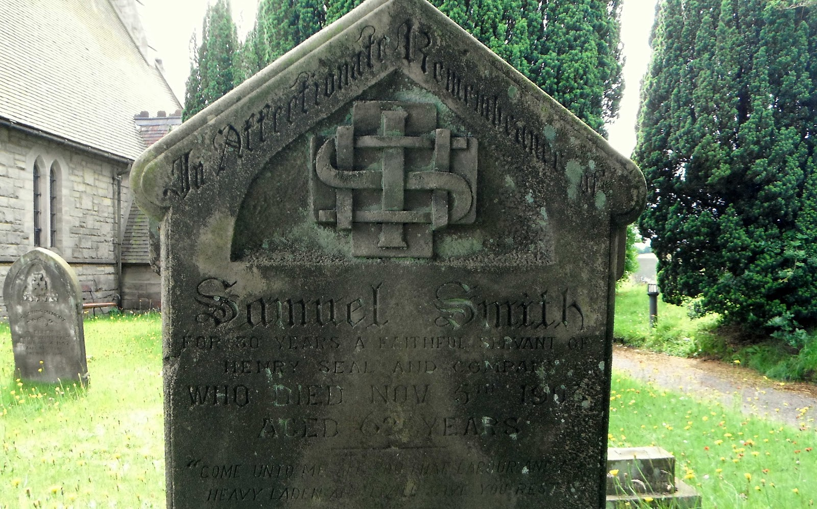 Gravestone at St John's in Hollington