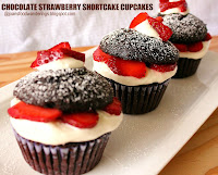 Chocolate Strawberry Shortcake Cupcakes