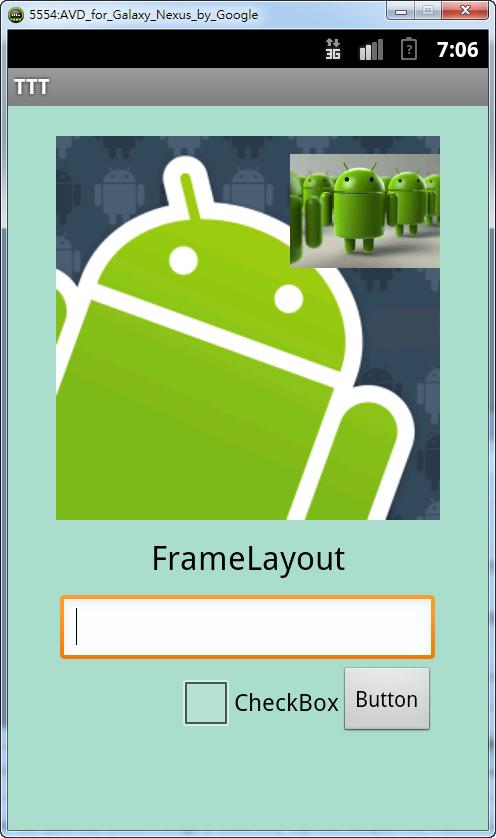 [Android UI 設計] [版面布局Layout介紹] FrameLayout