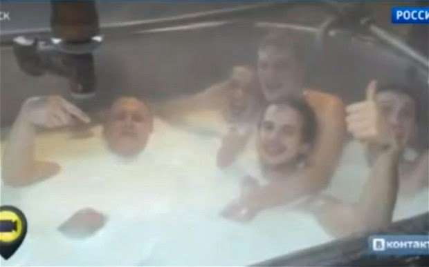 Russian Cheese-Factory Workers Bathed Naked in Milk