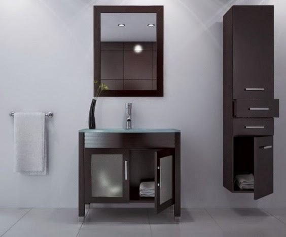 contoh pemasangan lemari kecil dan gantungan baju