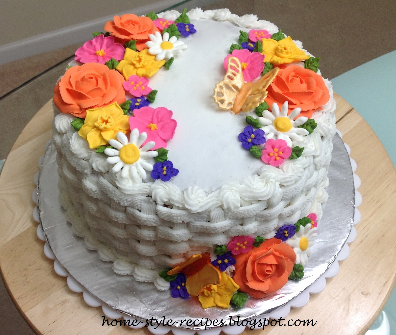 Cake Decoration Flowers Recipe : Share-A-Recipe: Wilton Flowers and Cake design ( Course 2 ...