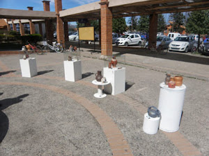 Detalle de la exhibición en la UV San Felipe