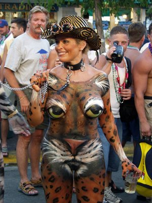 body painting art example tiger
