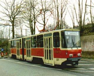 Potsdam + Straßenbahn: Tram-Testgebiet für die DDR, aus PNN