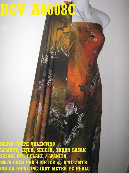 BCV A0008C: BATIK CREPE VALENTINO ,  4 METER