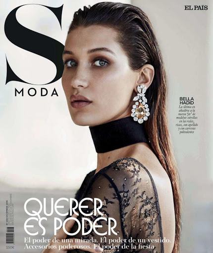 Bella Hadid sexy cover S Moda Magazine Spain December 2015 photos