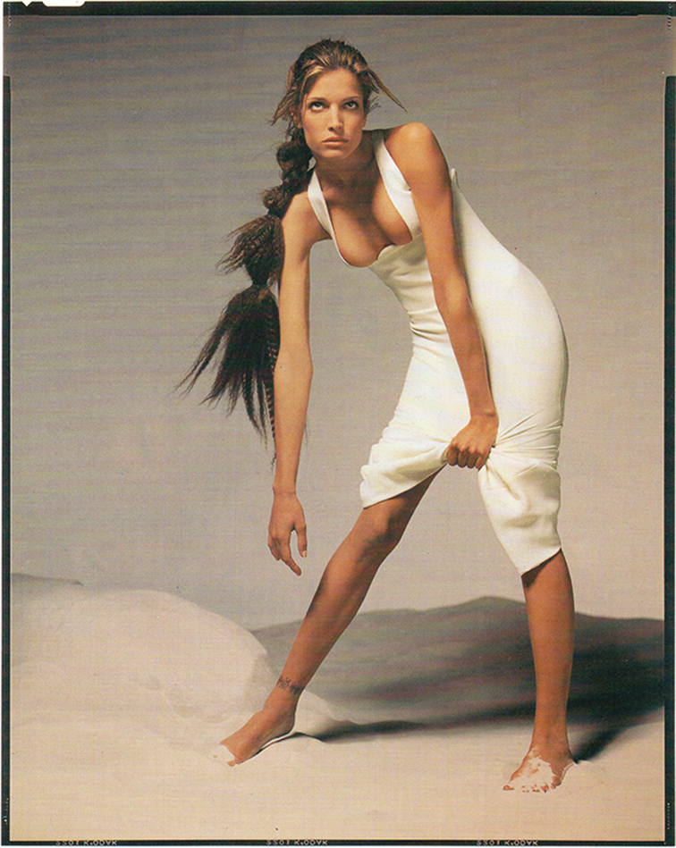 Stephanie Seymour in the spring summer 1993 Versace campaign photographed by Richard Avedon