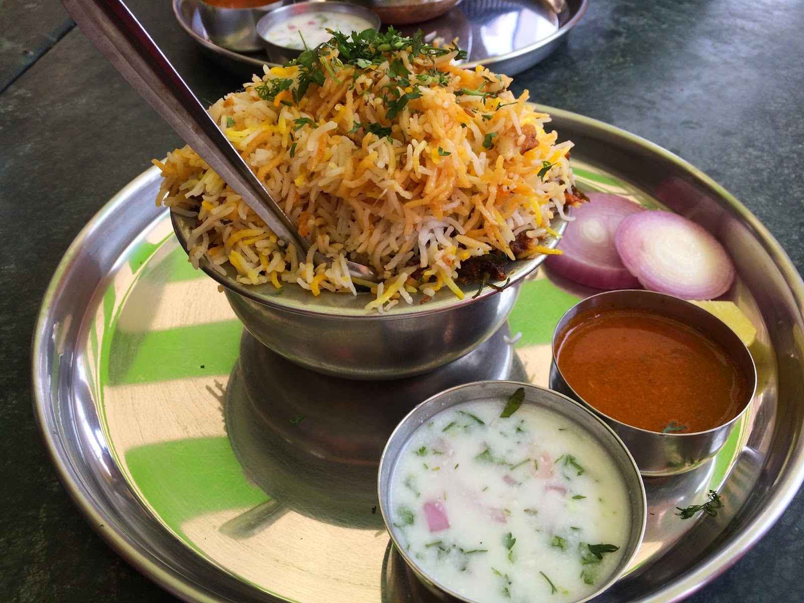 Andhra Biryani at Hotel Reddy