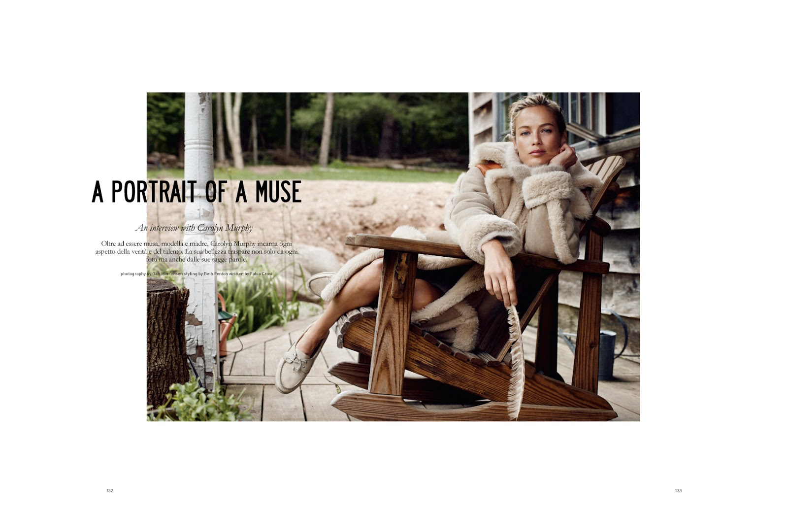 a portrait of a muse carolyn murphy by dan martensen for muse  make up chiho omae frankreps