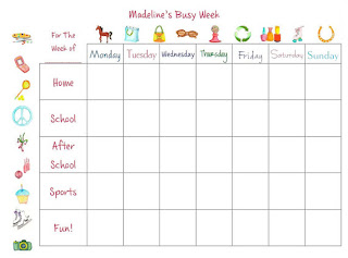 busy week girl calendar