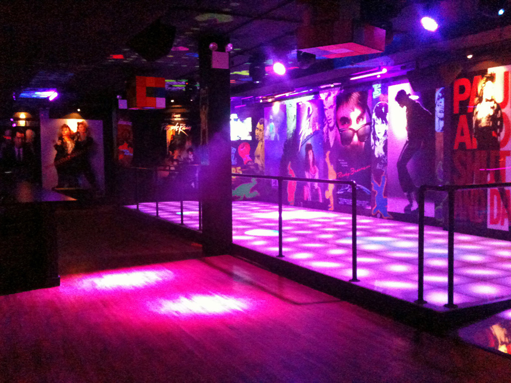 Floor of culture club a hip 1980s themed new york city dance club