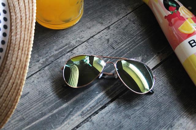 Rosegold Fliegerbrille/Pilotenbrille verspiegelt