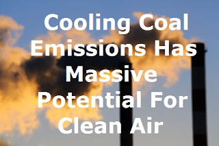 Cooling coal emissions at the top of smoke stacks could provide serious environmental benefits.
