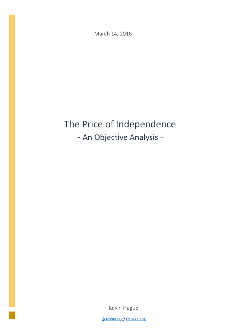Price of Independence
