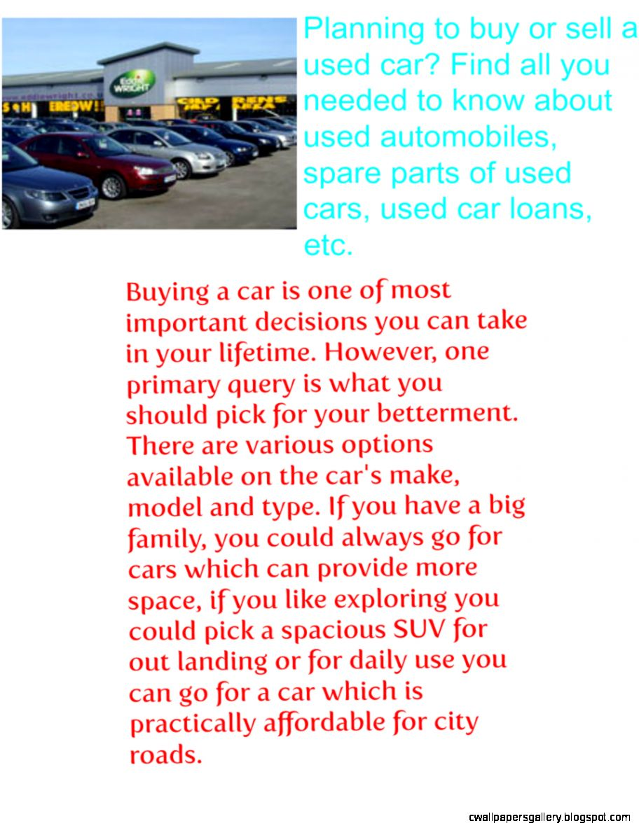 Used Automobiles – Used Auto Information  Buying Used Cars
