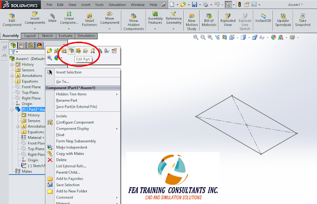 edit part in solidworks assembly